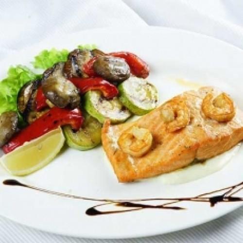 Спинки Сёмги с овощами
