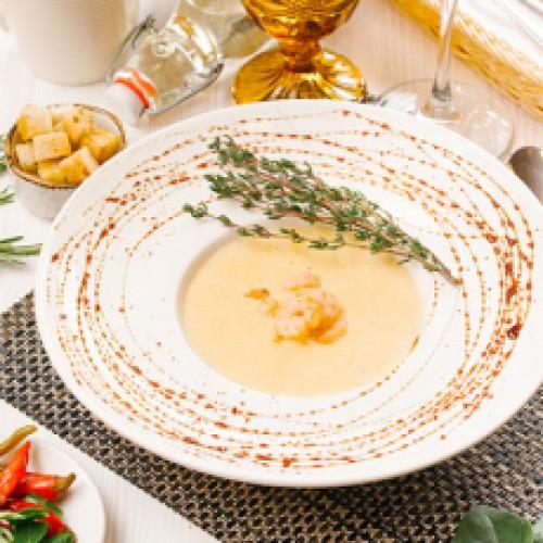 Суп крем из кукурузы и креветок