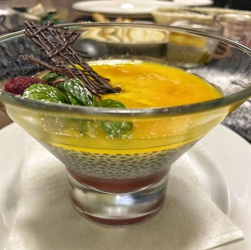 Малиново-манговый пудинг с чиа