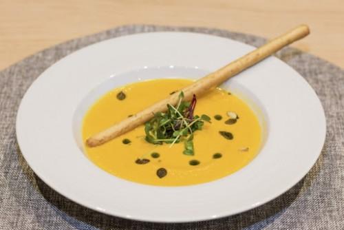 Тыквенный суп с гриссини