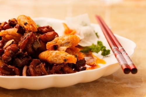Окорочка с острым перцем и креветками