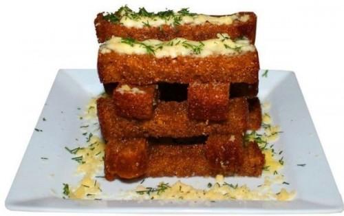 Хлебные палочки в сыре