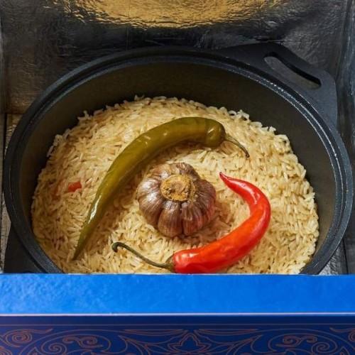 Бухарский плов вегетарианский в казанчике (на 6 персон)