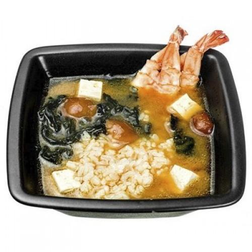 Мисо с рисом и креветкой