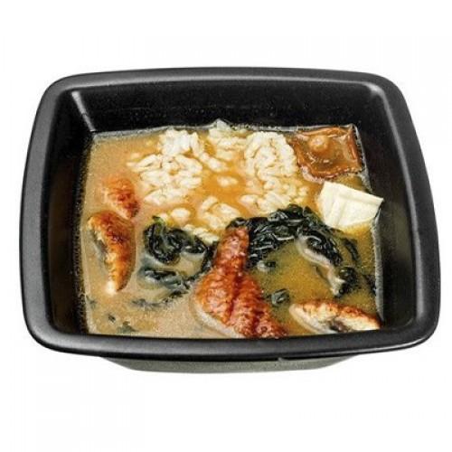 Мисо с рисом и угрём