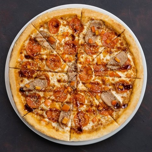 Пицца Свинина Спайси & Терияки Мега 43см