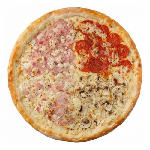 Пицца Пати-микс на сырном соусе 42см